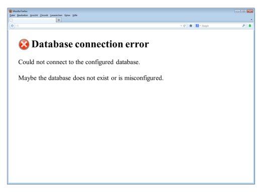Fehler bei der Verbindung zur Datenbank