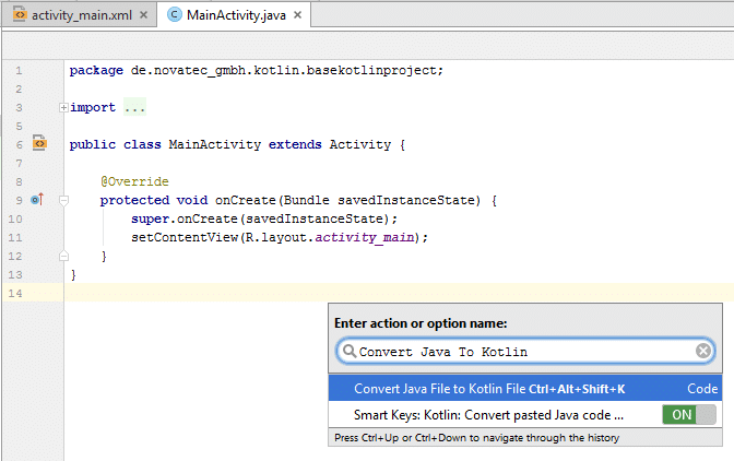 Convert Java To Kotlin