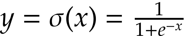 y= \sigma (x) = \frac{1}{1+e^{-x}}