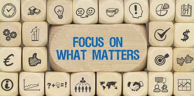 Value Focus: Focus on what matters